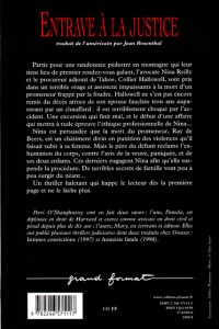 Obstruction of Justice French Edition Back