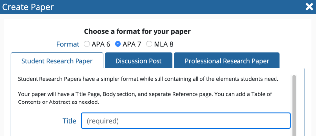 How to write a paper in PERRLA Online (APA 16) – PERRLA