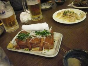 Cortezas de cerdo, estilo Okinawa