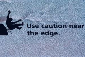 Cuidado con caerse en el Gran Cañón