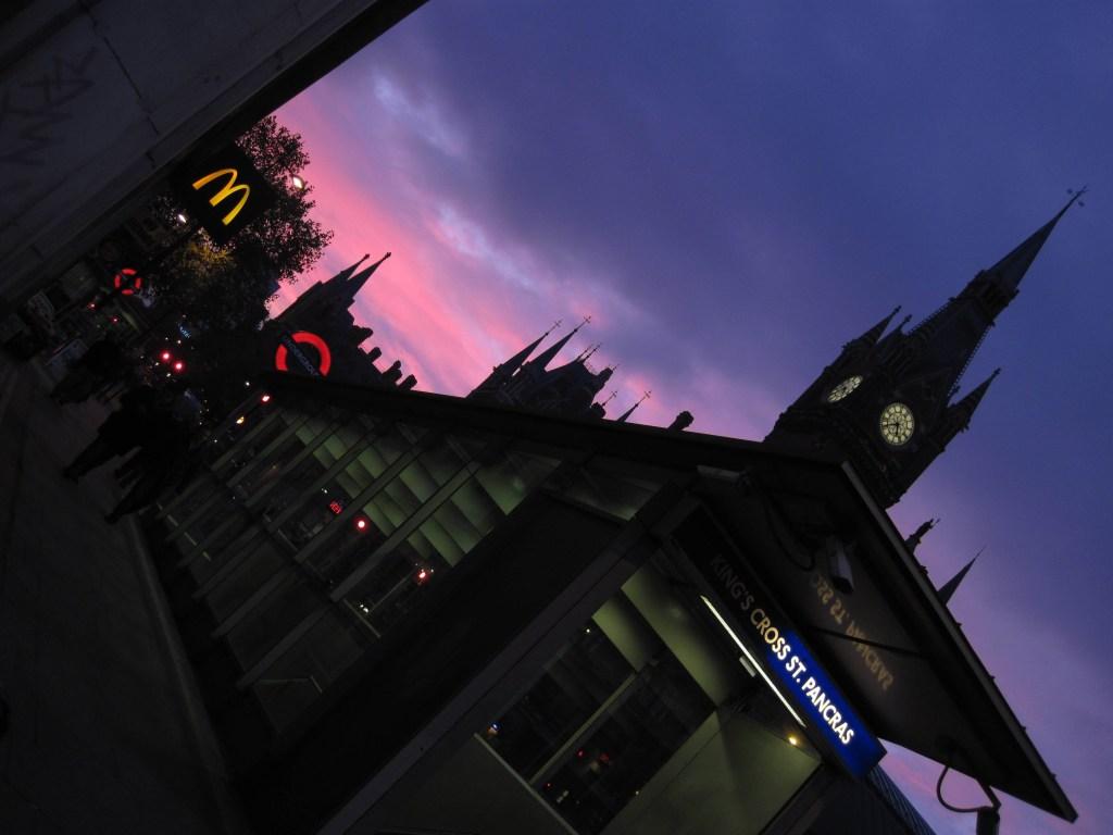 El atardecer en la estación de King's Cross