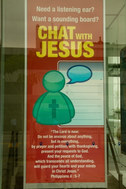 "Cartel cristiano en Singapur: ""Chatea con Jesús"""