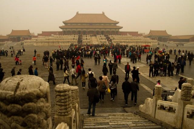 La colosal Ciudad Prohibida, el palacio imperial de las dinastías Ming y Qing en Pekín, China