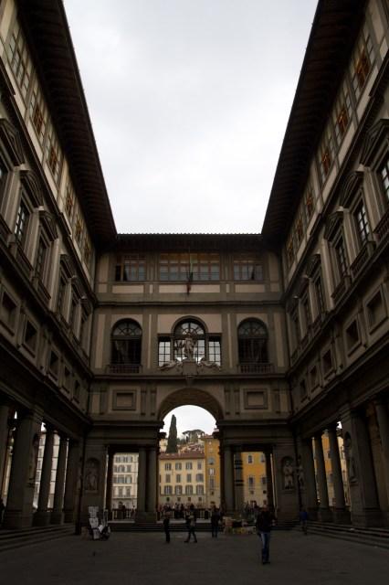 Exterior de la Galería de los Oficios