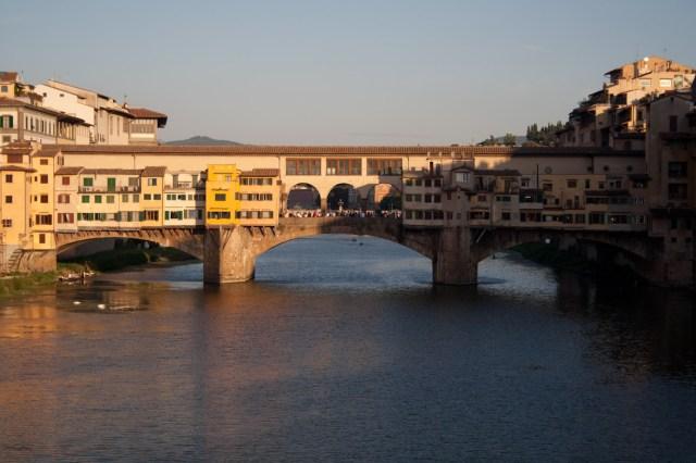 Atardecer sobre el Ponte Vecchio