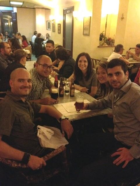 Velada en TBEX Girona 2012 con otros blogueros radicados en España