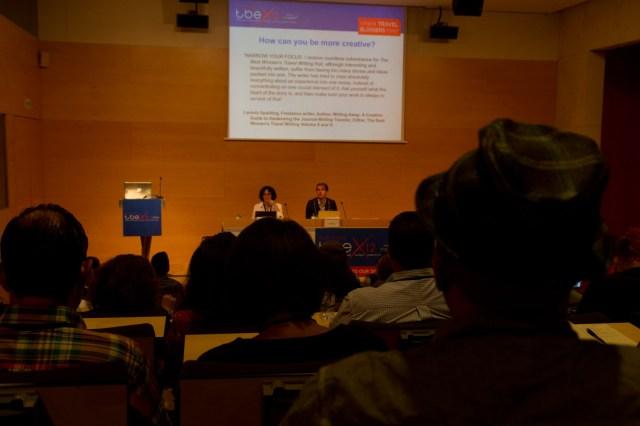 Pam Mandel y Will Peach hablan sobre escritura creativa en el TBEX Girona 2012