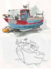 Un bateau du port d'Ericeira