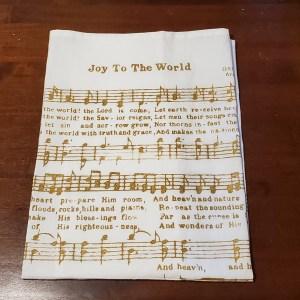 dish towel joy to the world sheet music