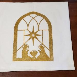 dish towel nativity