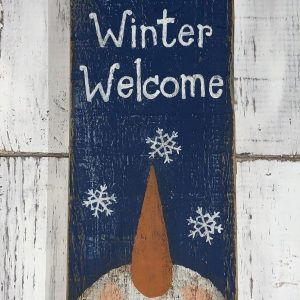 winter welcome sign