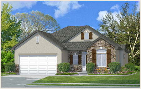 Kennedy is a beautiful home designed by Perry Homes in Utah.