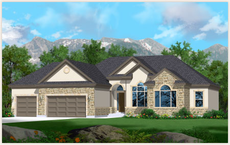 Cypress model home designed by Perry Homes Utah.