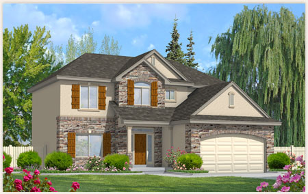 Eisenhower floor plan designed by Perry Homes, Utah.