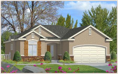 Washington is a custom home by Perry Homes, Utah.