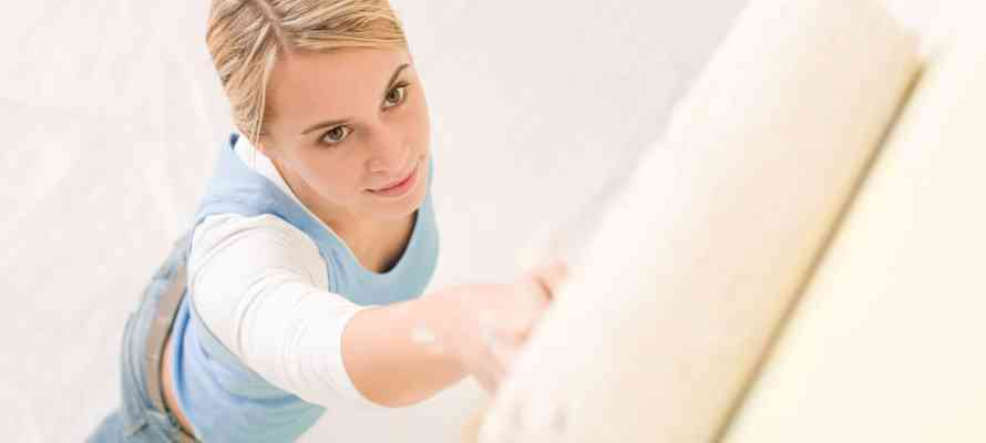 How your home can help you beat winter blues, woman painting for Perry Homes Utah.