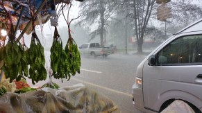 Heavy rain near Prachuap Khiri Khan, Thailand