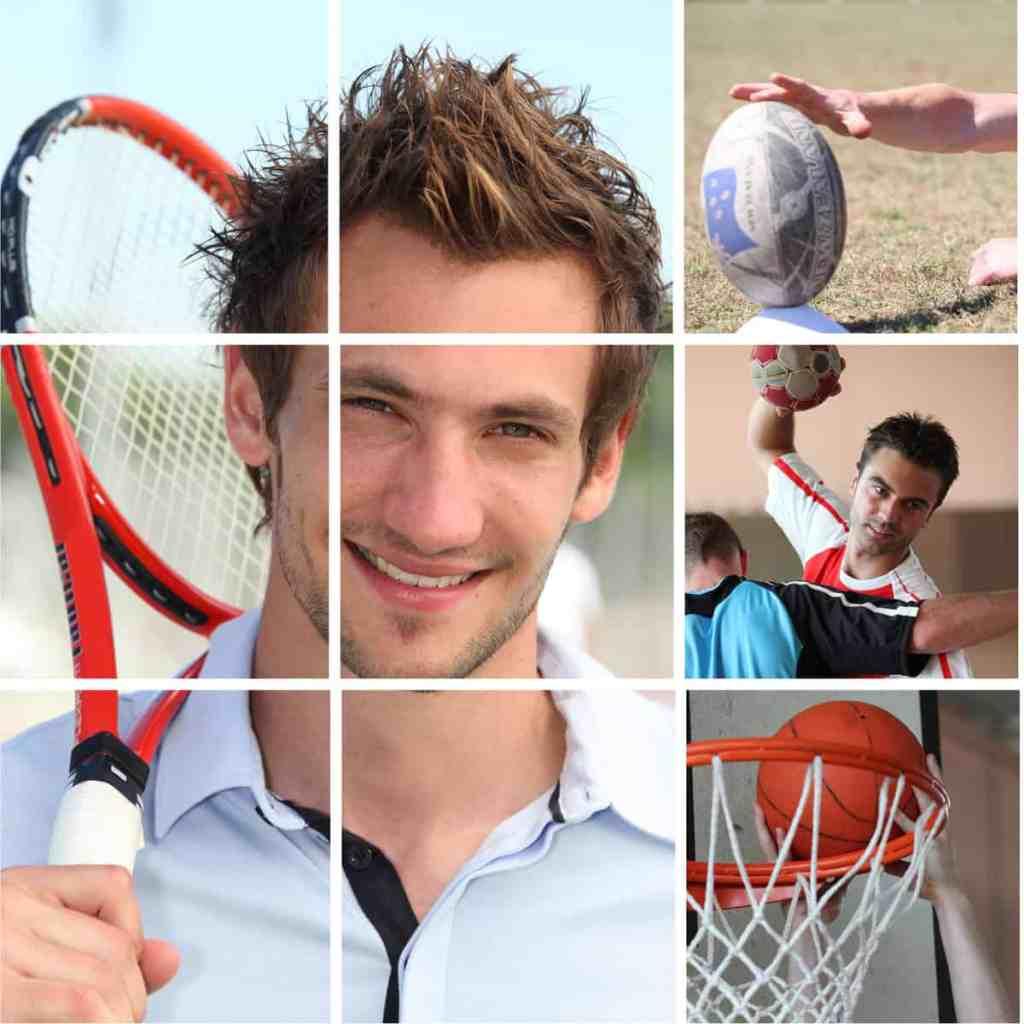 athletes playing sports