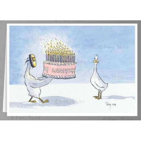 Many Many Happy Returns Greeting Card With Birthday Cake