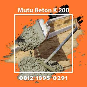 Mutu Beton K 200 Ready Mix