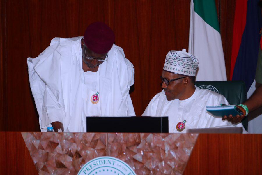 Image result for Buhari retains Abba Kyari
