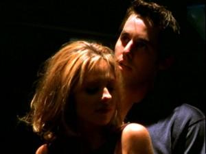 Xander dances for Buffy.