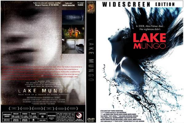 Cover of Lake Mungo DVD, unfolded to show front, back, and spine