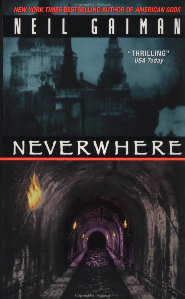 Neverwhere by Neil Gaiman Book Cover Art