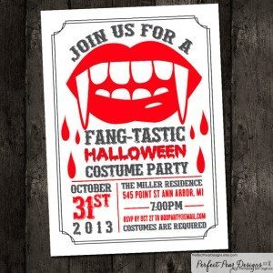 Fangtastic Printable Invitation by PerfectPearDesigns, $16.75