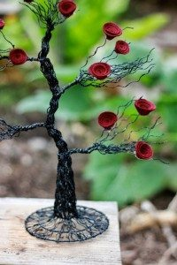 Gothic Tree Centerpiece by TheFeltFlourist, $22.99