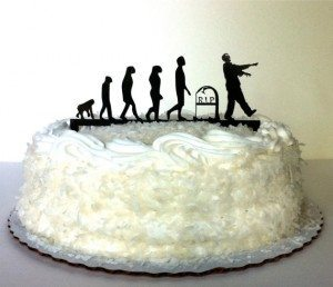 Evolution Of the Zombie Cake Topper by CreativeButterflyXOX, $28.00