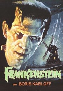 Vintage 1931 Frankenstein Movie Poster by BuubleRoll, $29.95
