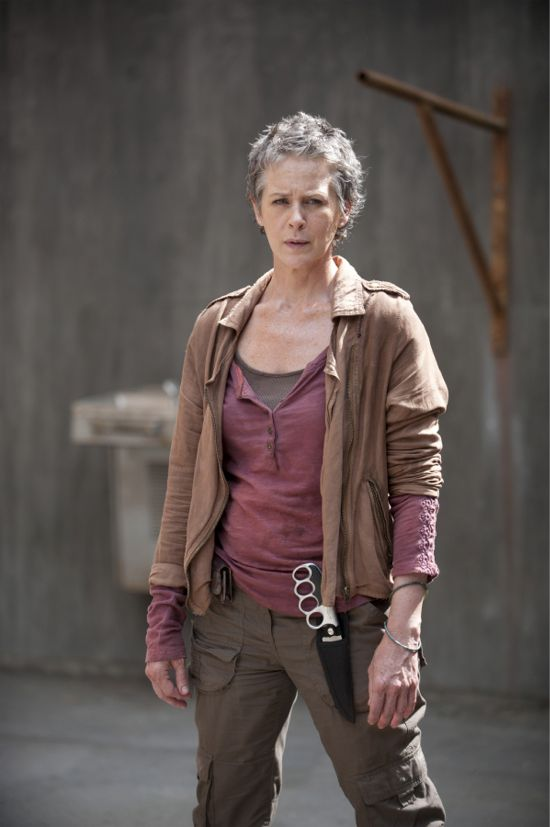 """Carol Peletier (Melissa McBride) stands ready for combat in The Walking Dead 4.03 """"Isolation."""""""