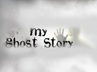 White title card with a ghostly hand print.