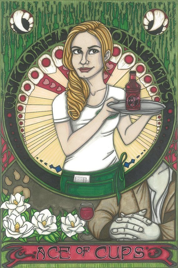 Illustration of Sookie as Ace of Cups
