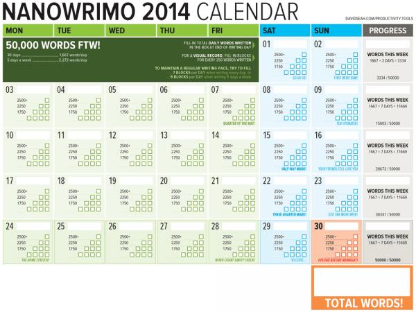 davidseah nanowrimo-2014-calendar