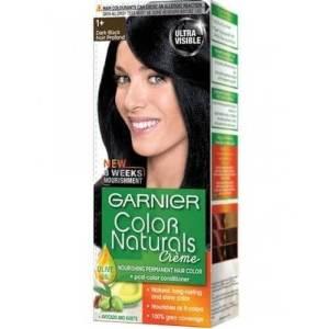 غارنيه صبغة شعر كولور ناتشرالز كريم - 1+ أسود غامق