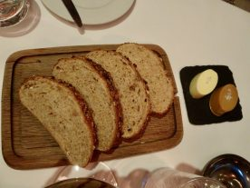 Fresh bread with Butter and Marmite Butter