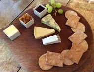 Trio of British cheeses