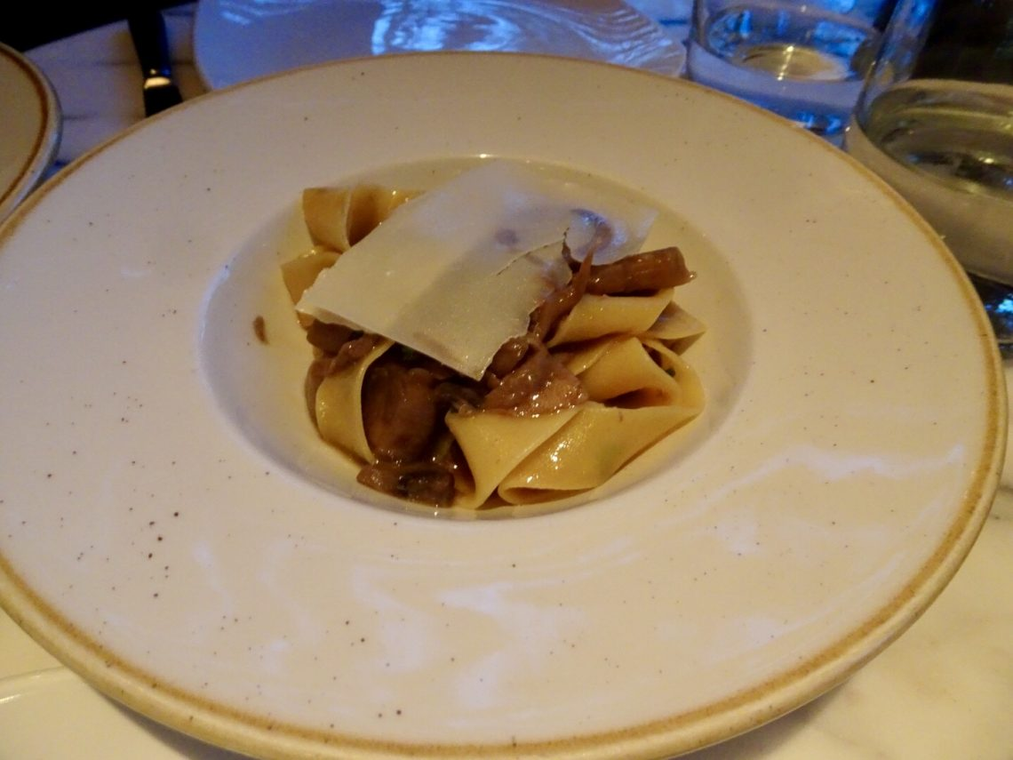 Pappardelle with porcini & truffle oil