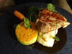 Woodland Pork Tenderloin, Honey & Sesame, Carrot & Ginger Sauce Cabbage Parcel, Creamy Mash (2)