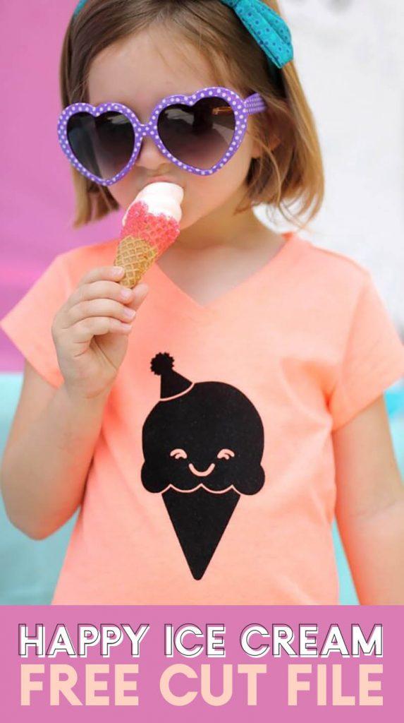 free happy ice cream cone cut file