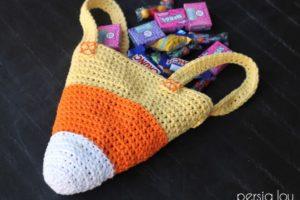 Halloween Crochet Candy Corn Treat Bag – Free Pattern