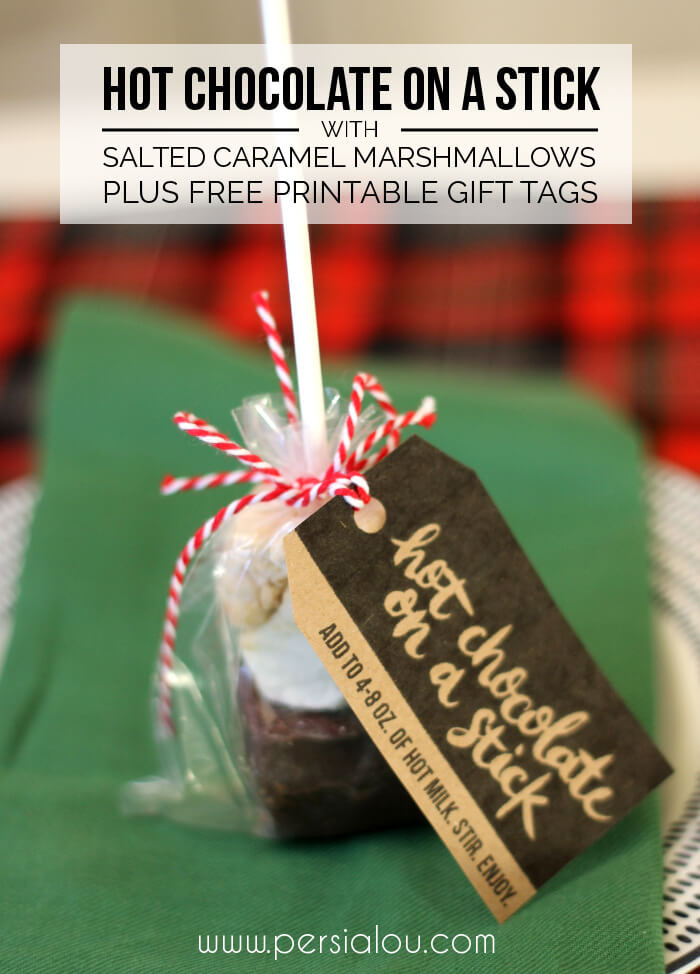 Hot Chocolate On A Stick With Salted Caramel Marshmallows