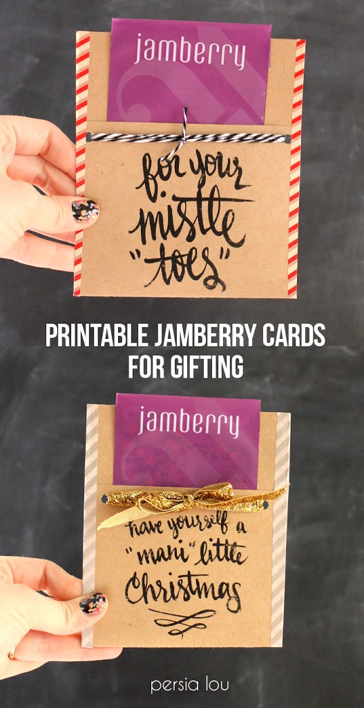 printable jamberry cards - the perfect simple Christmas gift!