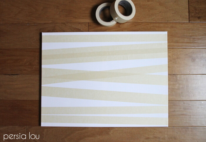 DIY Birch Tree Art - Make your own wall art with this SUPER easy step-by-step tutorial.