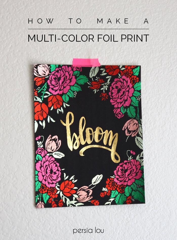 Make multi-colored metallic foil prints using the Heidi Swapp Minc