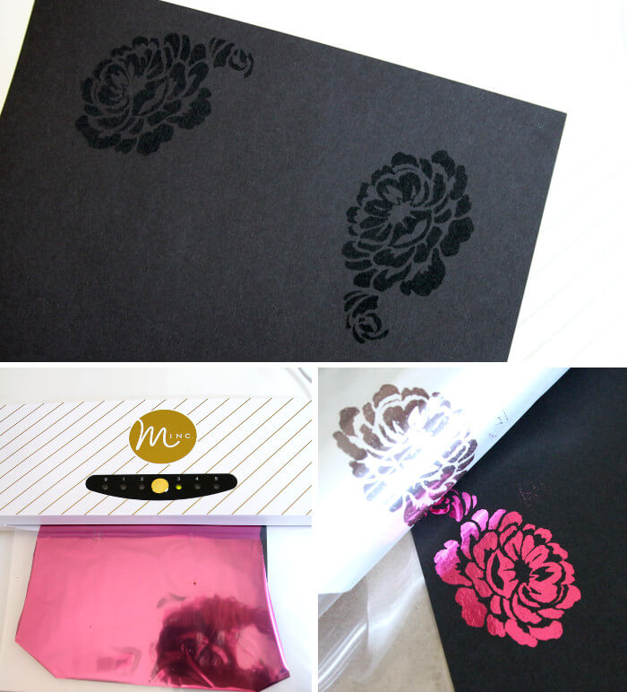 How to create multi-colored foil prints