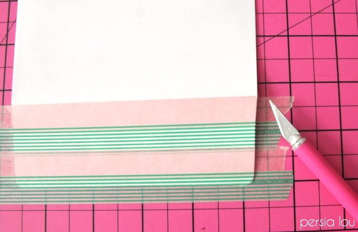 watermelon washi tape cards