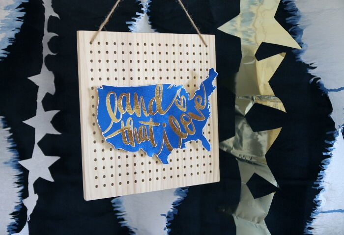 Metallic Foil Sign for the Fourth of July